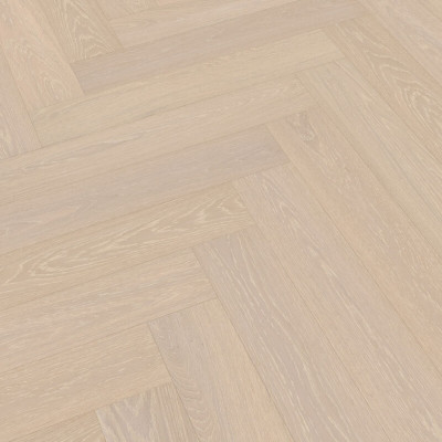 Trägolv Meister Herringbone Off White Limed Oak