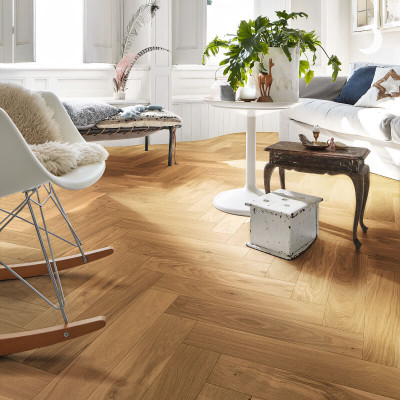 Trägolv Meister Herringbone PS400 Oak Lively